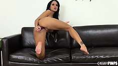 Ava Addams loves treating her dildo just like a cock and fucks them hard