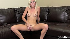 Blond slut Chloe Foster experiences the deep emotional stress