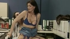 Lustful Mature Lady Tanja Has A Young Stud Hammering Her Fiery Holes