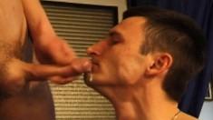 Sexy army stallions exchange oral pleasures and enjoy wild anal sex