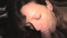 Dorene Milks A Long Rod With Her Lips And Swallows Every Drop Of Cum