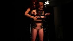 Busty redhead with a sweet ass Misti Dawn fulfills her bondage fantasy