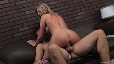 Brianna Brooks amuses male with her amazing tits and magnificent ass