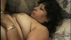 Latina granny gets her chubby cunt pounded deep and hard by a BBC