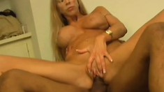 Cheating wife Morgan Ray seizes the chance to fuck a huge black prick