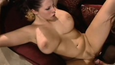 A busty chick begs for more as her wet twat gets drilled deep