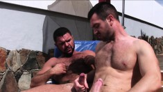 Dillon Buck and Marcus Troy relish the taste of each other's big cocks
