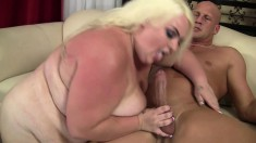 Chunky blonde Cheryl Lee has a fiery snatch yearning for wild action