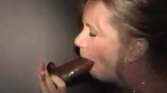 Glory Hole Blonde Slut Is A Blowjob Master
