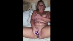 Mature Amateur Wife Toys Her