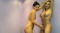 Lesbian with big boobs love pussy