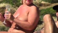 Amateur Bbw Milf Fucking On The Beach