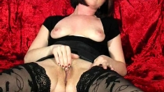 Amateur milf fucked hard in stockings