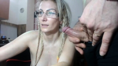 Mature Blonde Woman Show On Webcam