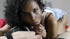 Ebony Black Teen Blowjob And Facial