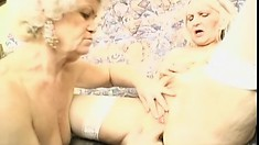 Granny Budai gets into a fuck fest with her amazing lesbian friend