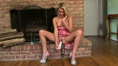 Pretty Blonde Teen Uses Fingers And Toys On Her Juicy Snatch