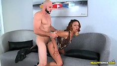 It's her first time in porn and she's already getting the biggest D