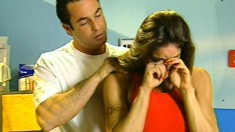 Busty brunette lifeguard has her horny boss taking care of her desires