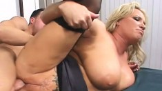 Big breasted blonde milf Rachel Love seduces and fucks her stepson